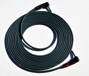 Evidence Audio 20 foot Reveal Instrument Cable Right Angle to Right Angle Plug (by E.A.R.S. PRO AUDIO)