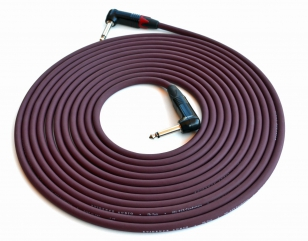 Evidence Audio 20 foot Forte Instrument Cable Right Angle to Right Angle Plug (by E.A.R.S. PRO AUDIO)